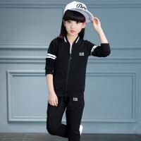 女童秋装套装2018新款儿童小学生春秋运动服童装女大童洋气三件套