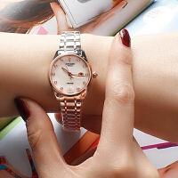 正品古尊女士手表精钢表带全自动机械表时尚潮流防水商务女表6146