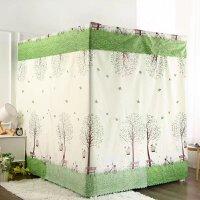 家用落地床布蚊帐床帘遮光防风卧室1.5m公主风支架一体式床幔