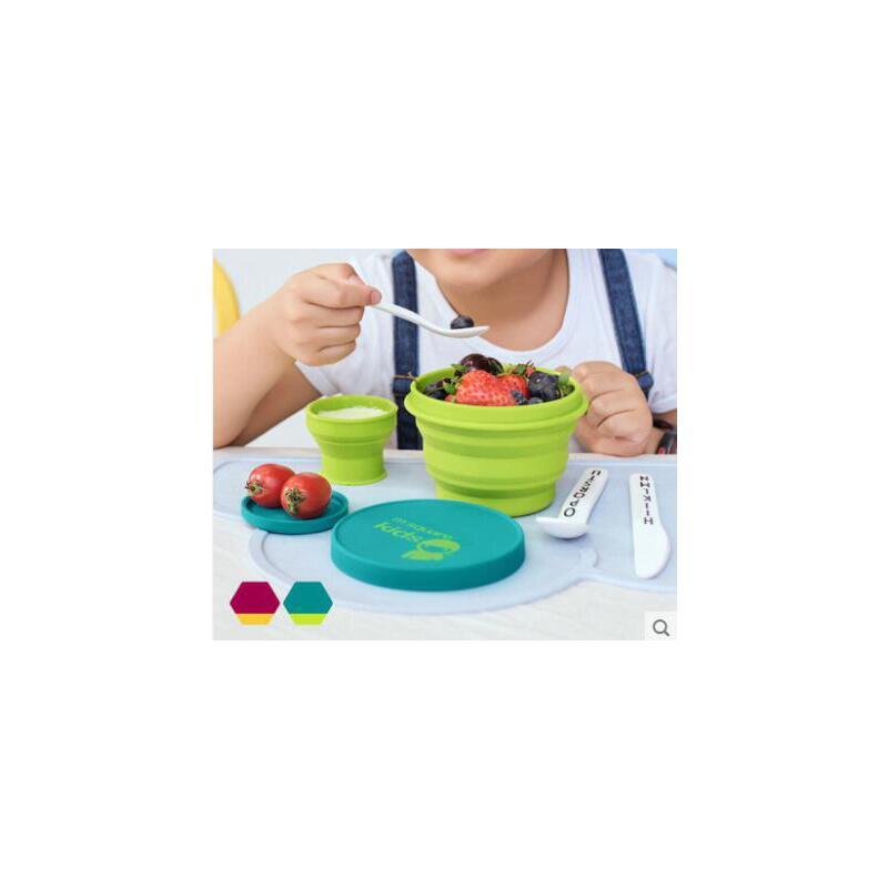 碗具精美伸缩水杯儿童餐具套装折叠碗户外便携式野餐硅胶漱口杯旅游旅行碗 品质保证,支持货到付款 ,售后无忧