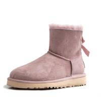 WARORWAR 法国新品YG48-Q1983-1冬季欧美羊皮毛一体平底舒适纯羊毛女雪地靴