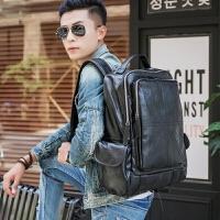 韩版双肩包男包牛皮时尚潮流男士真皮背包休闲旅行包户外小登山包