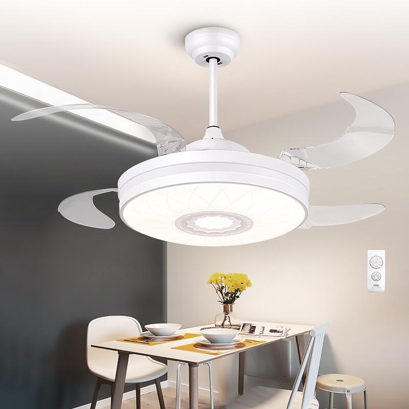 雷士照明简约现代餐厅吊灯风扇灯吊扇灯隐形电扇卧室客厅家用灯具