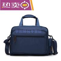 新款时尚潮流男女式手提旅行包短途出差商务行李袋航空包纯色韩版可单肩包