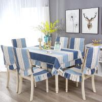 餐桌布椅套椅� 套�b��s�F代椅子套罩家用餐椅� 套�b餐桌布��_布