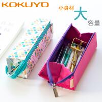 日本国誉笔袋多功能大容量学生用韩国创意网红少女心日系可爱小清新文具袋ins女铅笔盒初中简约高中生收纳包