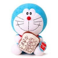 Aoger/正版面包哆啦A梦公仔 机器猫迷你小号毛绒玩具 面包款机器猫 正版 9寸【坐高25厘米】