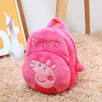 小猪宝宝小书包-3-4-6岁可爱女孩迷你小背包潮男幼儿双肩包 圆形双肩背小猪红 1-3岁