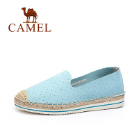 【每满200减100】Camel/骆驼女鞋 甜美透气平底编织渔夫鞋 舒适乐福鞋