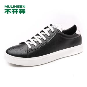 木林森男鞋 男士舒适透气时尚休闲板鞋 05177363
