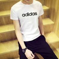 Adidas阿迪�_斯 男�b �\�有蓍e透��A�I短袖T恤 DQ3056