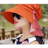新款折叠大沿防紫外线韩版潮出游太阳帽遮阳帽遮脸防晒帽