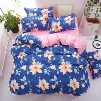 四件套新品芦荟仿棉床上用品舒适床单式套件学生床品