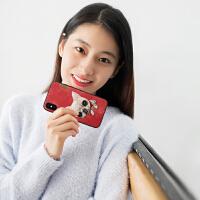 nimmyiPhonexsmax手机壳苹果X/XR刺绣678plus泰迪狗熊猫斗牛犬Max情侣挂绳小