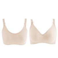 怀孕期舒适喂奶彩棉无钢圈哺乳文胸1-4个月孕妇内衣胸罩