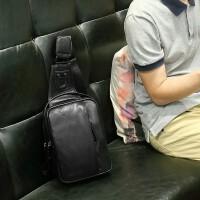 男士包包胸包男休闲斜挎包韩版潮流单肩包男皮运动小背包户外腰包SN3004