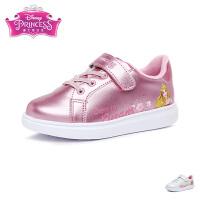 迪士尼disney童鞋17冬季女童休闲鞋爱洛公主儿童运动鞋天鹅绒女孩小板鞋 (5-10岁可选)