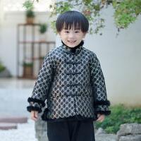 唐装男童冬中国风新年装童装拜年服宝宝男民国风冬装儿童古装汉服