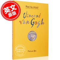现货 遇见艺术家:文森特梵高 英文原版 Vincent Van Gogh: Meet the Artist! 向日葵