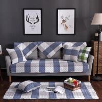 沙发垫布艺棉防滑沙发坐垫四季田园棉四季通用简约沙发巾套罩