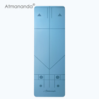 Atmananda正位瑜伽垫 引导正确练习 防滑瑜珈垫子 加厚加长运动健身垫 163cm*61cm*4mm
