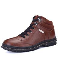 新款冬季男士韩版大码鞋真皮休闲皮鞋加绒保暖棉鞋子 37-47