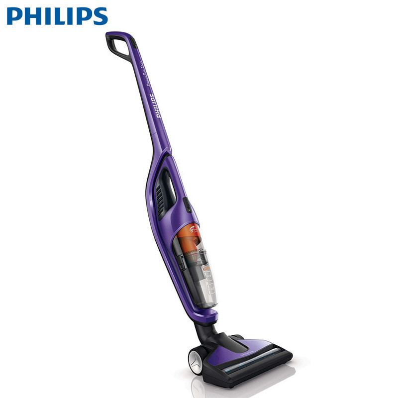 飞利浦(PHILIPS)吸尘器 FC6166 立式手持式(二合一)家用充电式小型无线吸尘机除尘静音无尘袋 紫色 无线手持、车载二合一吸尘器,