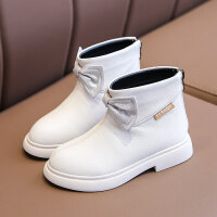 【活动价:126】女童短靴春秋单靴真皮马丁靴子2019冬新款韩版时尚二棉洋气儿童鞋