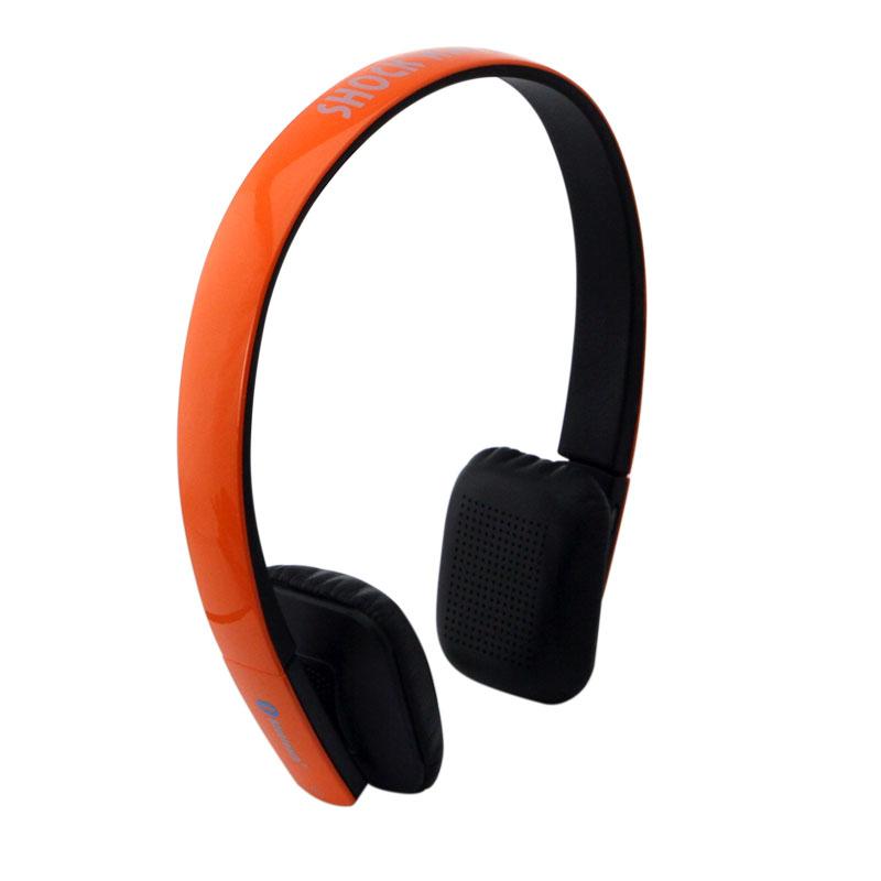 shockwave冲击波 SHB-921BH 蓝牙有线无线双用耳机 亮橘色头戴式HiFi立体声内置麦可通话