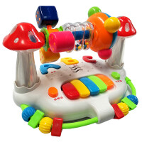 婴儿童早教摇铃旋转床铃6-12个月男孩女宝宝力玩具1-2-3周岁 +充电器+充电电池