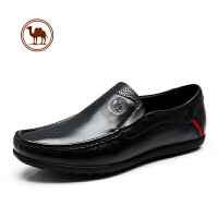 骆驼牌男鞋男式鞋子秋冬系带英伦黑色男士商务正装真皮西装皮鞋男