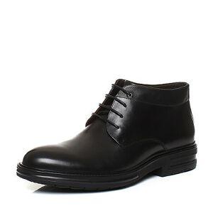 Tata/他她2017冬牛皮商务通勤绑带及踝靴男皮靴F9399DD7