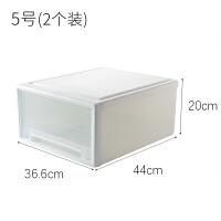 抽屉式收纳箱大号塑料透明收纳盒整理盒衣物整理箱储物箱收纳柜 如图