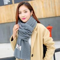 毛线围巾围脖女秋冬季百搭两用披肩学生长款保暖针织