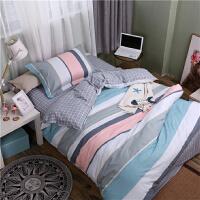 ???寝室学生宿舍单人三件套床上用品床单被套被罩枕套1.0m1.2米1.5