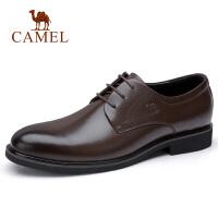 camel骆驼男鞋 秋季新款商务正装皮鞋英伦复古办公休闲系带皮鞋