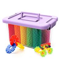 雪花片大号儿童积木塑料玩具1-2-3-6周岁男女孩宝宝拼装拼插 抖音