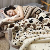 珊瑚毛绒毯子冬季加厚法兰绒毛毯拉舍尔加绒床单保暖被子双层床垫 时尚格调 200cmx230cm双层加厚约9斤