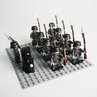 兼容乐高军事人仔拼装积木儿童玩具男孩子二战德国国防军士兵 德国国防军陆军