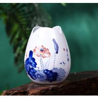 【优选】景德镇陶瓷器手绘青花瓷小花瓶水养富贵竹插花创意工艺品装饰摆件