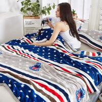 珊瑚毯子冬季加厚垫床单人空调午睡薄款沙发毛巾小被子法兰绒毛毯