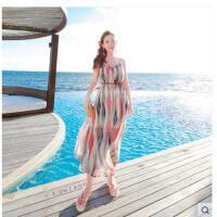 新沙滩裙吊带长裙边度族风旅游服饰海假连衣裙波西米亚民