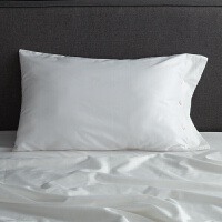 春夏 棉床品贡缎素色棉被套 床单床笠色长绒棉四件套 白色 白