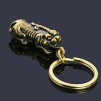 创意纯铜钥匙扣中国风蝉知了金钱豹貔貅招财汽车钥匙挂件摆件礼物
