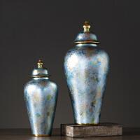 新中式陶瓷罐摆件家居装饰品欧式美式客厅玄关摆设样板间配饰