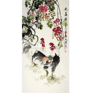 刘喜文 《迎春图》70*138CM