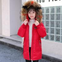 女童棉衣2018新款中长款加厚儿童韩版女孩洋气外套中大童冬装