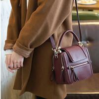 包包女新款小方包韩版潮简约百搭斜挎包手提包单肩包真皮女包
