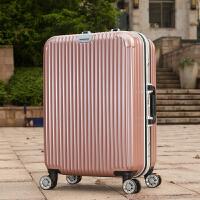 铝框拉杆箱学生行李箱子24寸男行李箱包旅行箱女万向轮登机箱22寸 玫瑰金铝框 20寸