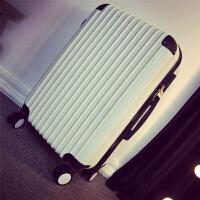 男士拉杆箱商务旅行箱24寸行李箱男韩版青年密码箱皮箱潮箱子20寸 白色 磨砂刮 20寸 登机